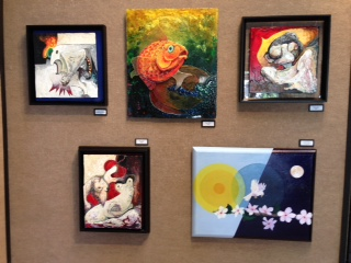 On Display Is The Artwork Of Albrica Tierra, Frederic Cisneros, Meghann  Eberhardt, Ralph Groff, Logan Kearse And Allen Mason.