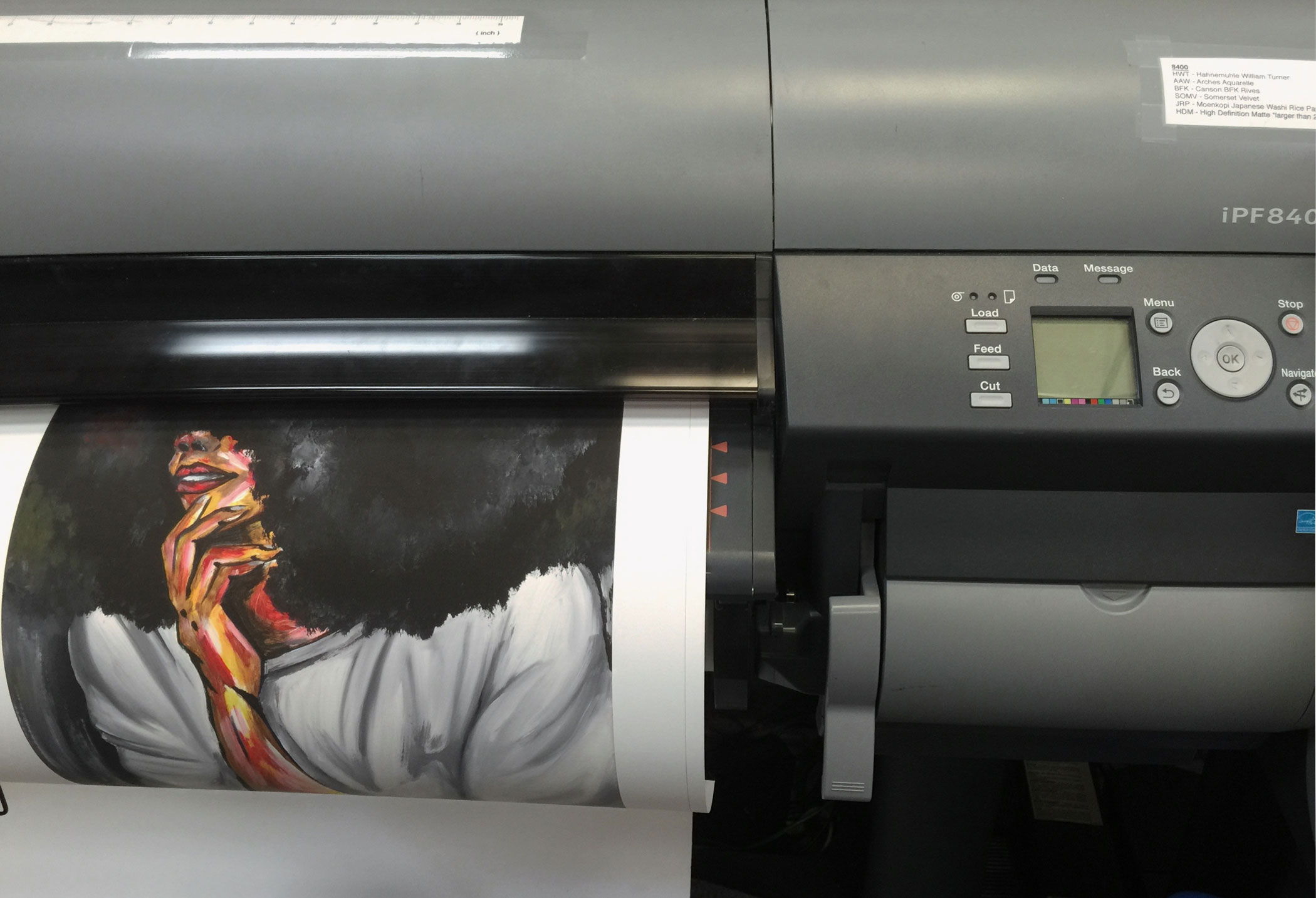 Our giclée printer
