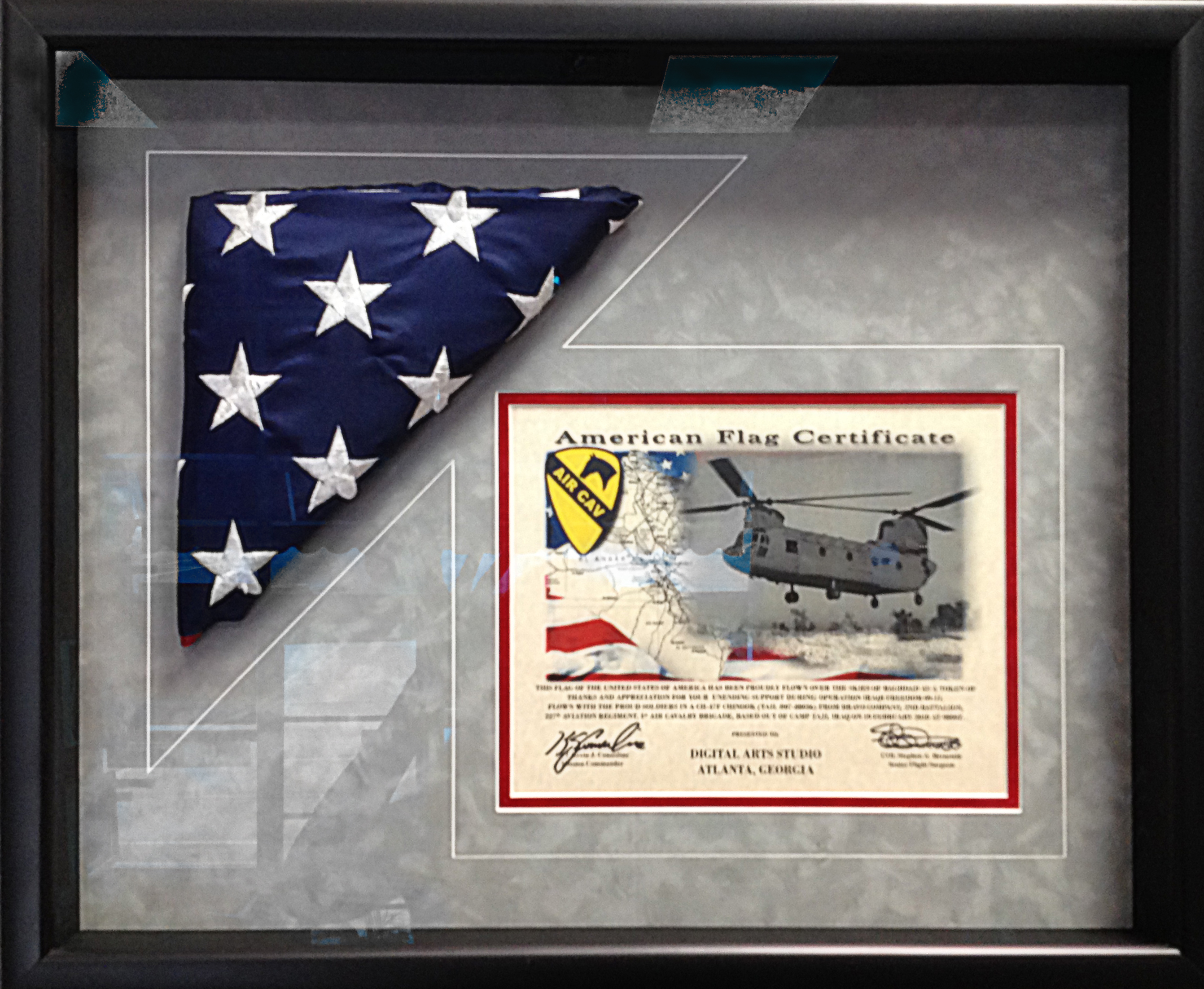 Us Flag And Certificate Frame - Best Design Sertificate 2018